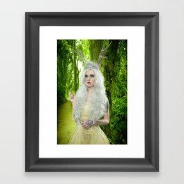 Melanie Goth Princess in the forest Framed Art Print