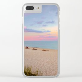 Evening Colors Clear iPhone Case