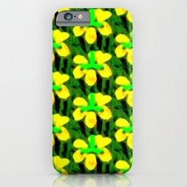 Yellow Flower Bloom Pattern iPhone Case