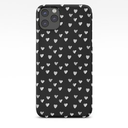 Ink Heart Pattern iPhone Case