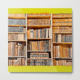 books background in watecolor style Metal Print