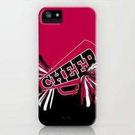Hot Pink Cheerleader Design iPhone Case