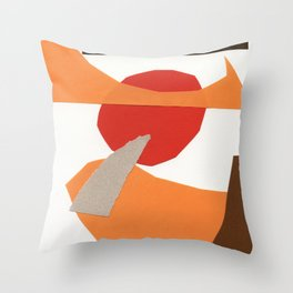 autumn paper collage Throw Pillow