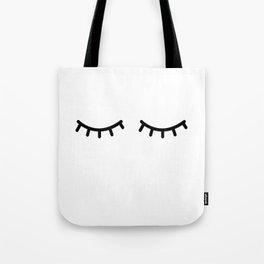 Eyelashes, Kids, Room, Nursery, Art, Scandinavian, Wall art Print Tote Bag
