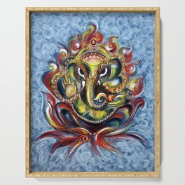 AUM Ganesha Serving Tray