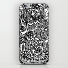 You are loved doodle iPhone Skin