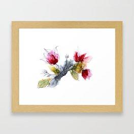 Le temps des Magnolias Framed Art Print