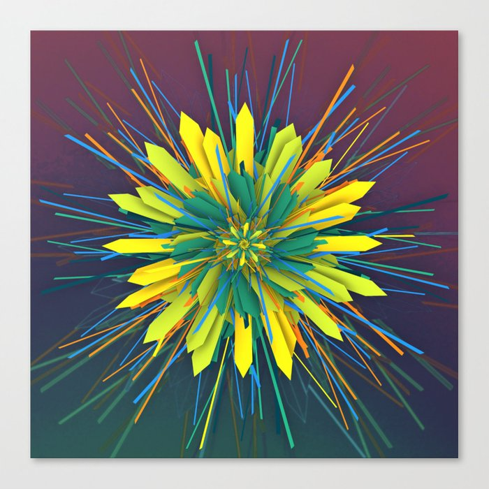 SunZun Flower Canvas Print