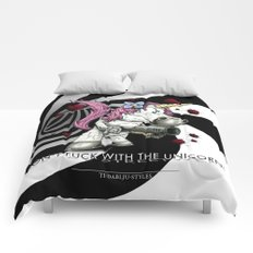 Don't f**k with the unicorn Comforters