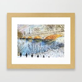 Peace & the Beast from the East Framed Art Print