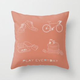 Play Everyday Throw Pillow