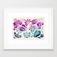 vintage floral Framed Art Prints featuring Vintage Floral by Jacqueline Maldonado