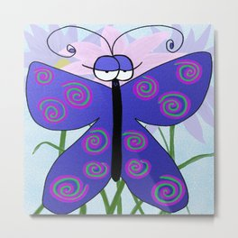 The Butterfly With An Attitude Metal Print