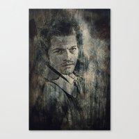 castiel Canvas Prints featuring Castiel by Sirenphotos