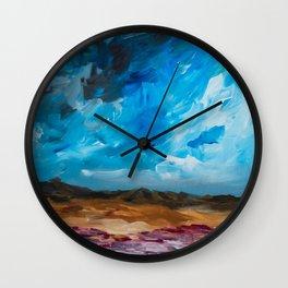Storm - painting series Wall Clock