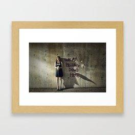 We All Belong Down Here Framed Art Print