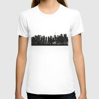 playstation T-shirts featuring New York black and white high quality art print by eARTh