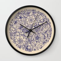 garden Wall Clocks featuring Circle of Friends by micklyn