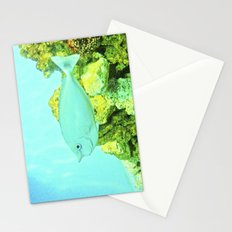 Fish between green and blue. Stationery Cards