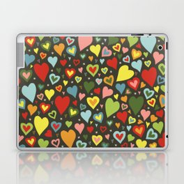 little colorful hearts Laptop & iPad Skin