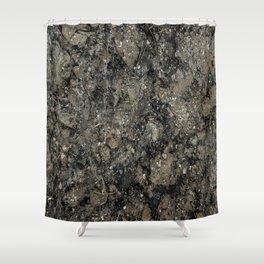 Grunge Organic Texture Print Shower Curtain