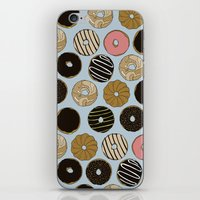 doughnut iPhone & iPod Skins featuring Doughnut Pattern by Blue Laurel Paper Co