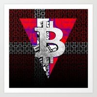denmark Art Prints featuring bitcoin denmark by seb mcnulty