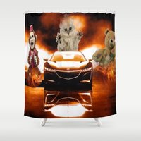 honda Shower Curtains featuring HONDA NSX,RACING CAR,NIGHTMARE by ira gora