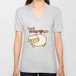 I Wool Always Love You Unisex V-Neck