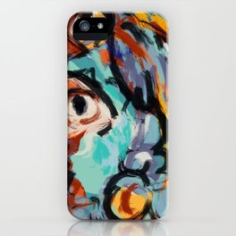 Woman and bird iPhone Case