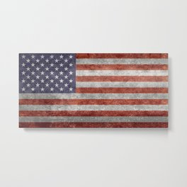America flag with vintage retro textures Metal Print