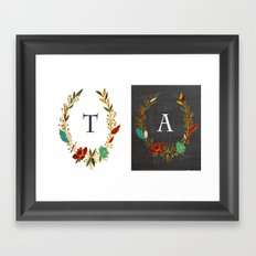 Monograms personalized Framed Art Print
