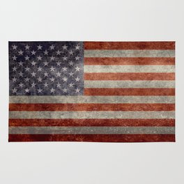 USA flag - Retro vintage Banner Rug
