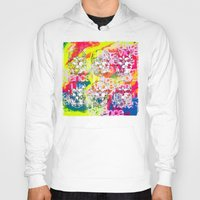 ultraviolence Hoodies featuring Ultraviolence 4i skull - mixed media on canvas by kakin