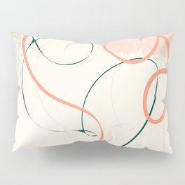 the dance 3 - minimal line art brush stroke Pillow Sham