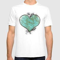 Heart #3 Mens Fitted Tee White MEDIUM