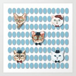 Cool cats Art Print