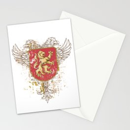 Coat of Arms Shield - Griffin Seal - Crown Lion and the Mark Stationery Cards