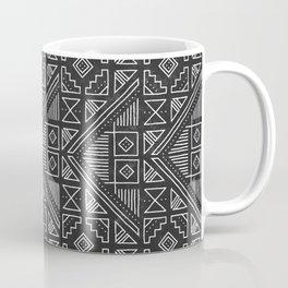 Stamped Geometric - Coal Coffee Mug