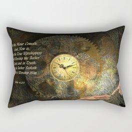 Jesus - John 4:23 Rectangular Pillow