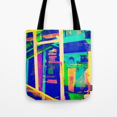 Industrial Abstract Blue Tote Bag