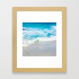 Jervis Bay Surf - squared Framed Art Print