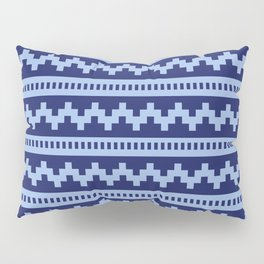 Pixel Blue Side Scroller Pillow Sham