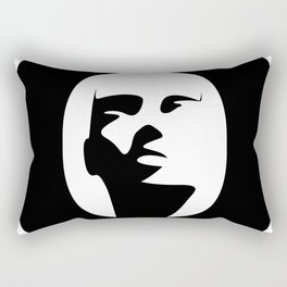 Woman - inside the O Rectangular Pillow