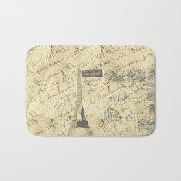 Parisian French Script Bath Mat