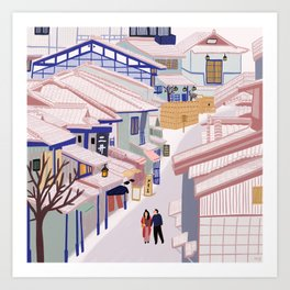 Old Town Kyoto Art Print