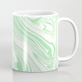 Pastel green & White marble Swirls Coffee Mug