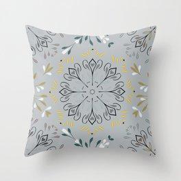 Autumn leaf pattern 1c Throw Pillow