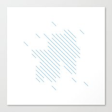 #198 Summer rain – Geometry Daily Canvas Print