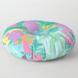 Tropical Flamingo Jungle Floor Pillow